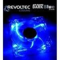 """Obrázok pre výrobcu Revoltec ventilátor """"Dark Blue"""" 80x80x25mm, s podsvietením 4x modré LED diódy"""