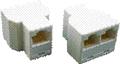 Obrázok pre výrobcu Dvojspojka 2xRJ45 8p8c (3 x Female)