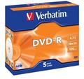 Obrázok pre výrobcu Verbatim DVD-R (1ks) Jewel/16x/4.7GB