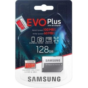 Obrázok pre výrobcu Samsung Micro SDXC 128GB EVO Plus + SD adaptér