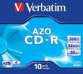 Obrázok pre výrobcu Verbatim CD-R (1ks)Jewel/Crystal/DLP/52x/700MB