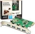 Obrázok pre výrobcu AXAGO PCIe adapter 4x USB3.0 Renesas