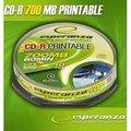 Obrázok pre výrobcu CD-R Esperanza [ cakebox 10   700MB   x52x   pre tlač   Fullface ]