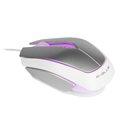 Obrázok pre výrobcu E-Blue Myš Mood, optická, 3tl., 1 koliesko, drôtová (USB), strieborná, 2400dpi, 3 farby podsvietenia
