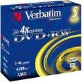 Obrázok pre výrobcu Verbatim DVD+RW(5-Pack)Jewel/4x/DLP/4.7GB
