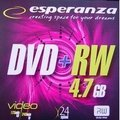 Obrázok pre výrobcu DVD+RW ESPERANZA [ slim jewel case 10   4.7GB   4x ]