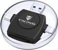 Obrázok pre výrobcu Viking OTG čtečka paměťových karet SD a Micro SD 4v1 s koncovkou APPLE Lightning / Micro USB / USB 3.0 / USB-C, černá