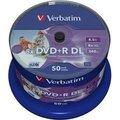 Obrázok pre výrobcu Verbatim DVD+R, DoubleLayer /8x/8,5GB/50pack/Print