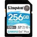 Obrázok pre výrobcu KINGSTON 256GB SDXC Canvas Go! Plus 170R/90W CL10 U3 V30