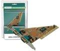 Obrázok pre výrobcu Digitus adaptér PCI 2x sériový port,  2 X DB9 M , Slot Bracket SUN1989 chipset