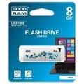 Obrázok pre výrobcu GOODDRIVE 8GB USB kľúč CL!CK, biely
