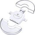 Obrázok pre výrobcu Viking OTG čtečka paměťových karet SD a Micro SD 4v1 s koncovkou APPLE Lightning / Micro USB / USB 3.0 / USB-C, bílá