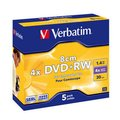Obrázok pre výrobcu Verbatim mini DVD+RW [ jewel case 5   1.4GB   4x ]