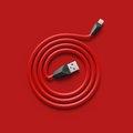 Obrázok pre výrobcu Datový kabel ALIEN, micro USB, barva červeno-černá