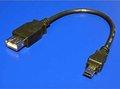 Obrázok pre výrobcu Redukcia USB (2.0), USB mini M (5pin)- USB A F, 0.2m, čierny, Logo